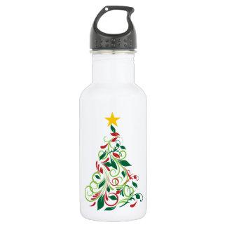 Elegant Modern Christmas tree Illustration 532 Ml Water Bottle