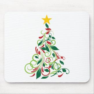 Elegant Modern Christmas tree Illustration Mousepad