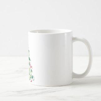 Elegant Modern Christmas tree Illustration Mugs
