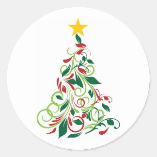 Elegant Modern Christmas tree Illustration Stickers