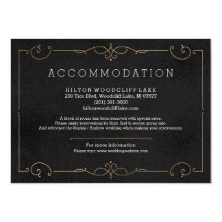 Elegant modern classic wedding accommodation 11 cm x 16 cm invitation card