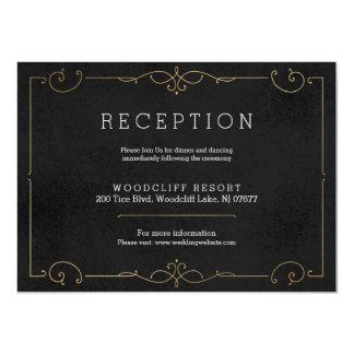 Elegant modern classic wedding reception card 11 cm x 16 cm invitation card