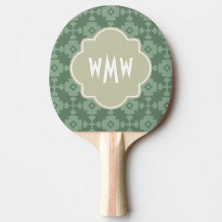 Elegant Modern Classy Retro 3 Letter Monogram Ping Pong Paddle