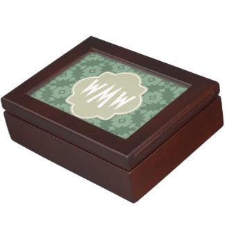 Elegant Modern Classy Retro 3 Letter Monogram Memory Boxes