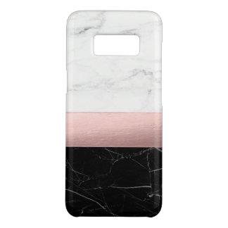 elegant modern clear black white marble rose gold Case-Mate samsung galaxy s8 case
