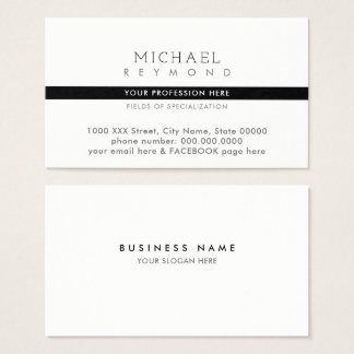 elegant & modern contact professional specialized business card