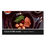 Elegant Modern Cuisine Beef Steak Tableware Theme Pack Of Standard Business Cards