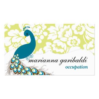 Elegant Modern Damask Peacock Pack Of Standard Business Cards
