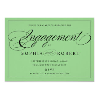 Elegant Modern Engagement Party Invitation Color