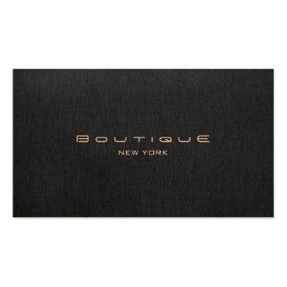 Elegant Modern Faux Black Linen Professional Pack Of Standard Business Cards