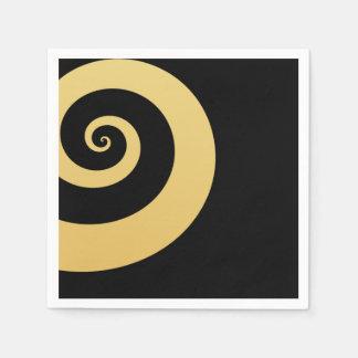 elegant modern faux gold foil geometric spiral paper napkin