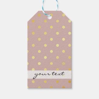 elegant modern faux gold polka dots pattern gift tags