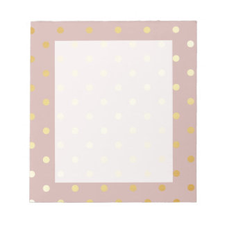 elegant modern faux gold polka dots pattern notepad