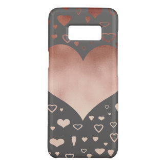 elegant modern faux rose gold hearts pattern Case-Mate samsung galaxy s8 case