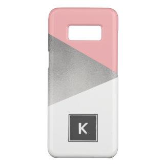 elegant modern faux silver blush pink geometric Case-Mate samsung galaxy s8 case
