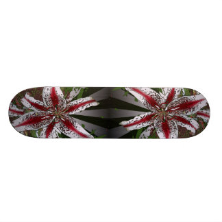 elegant modern girly  oriental lily floral skate deck