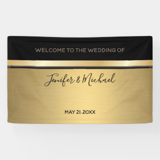 Elegant modern gold/black wedding banner