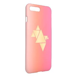 Elegant Modern Gold Geometric Pink Orange Gradient iPhone 8 Plus/7 Plus Case