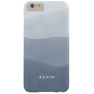 Elegant Modern Gray Stripes Gradient Barely There iPhone 6 Plus Case
