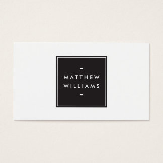 Elegant Modern Luxury Simple Black Box Name Logo Business Card