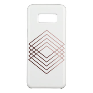 elegant modern minimal faux rose gold geometric Case-Mate samsung galaxy s8 case