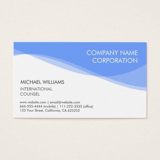 Elegant modern minimalist blue target business card for Target business cards