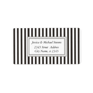 Elegant modern narrow brown stripes address label