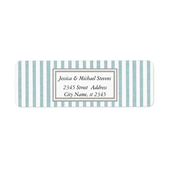 Elegant modern narrow stripes return address label