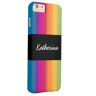 Elegant modern ombre gradient colorful rainbow barely there iPhone 6 plus case