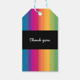 Elegant modern ombre gradient colorful rainbow gift tags