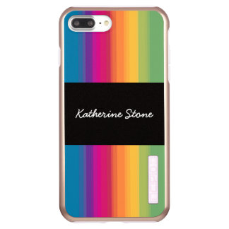 Elegant modern ombre gradient colorful rainbow incipio DualPro shine iPhone 8 plus/7 plus case
