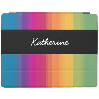Elegant modern ombre gradient colorful rainbow iPad cover