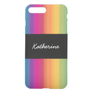 Elegant modern ombre gradient colorful rainbow iPhone 8 plus/7 plus case