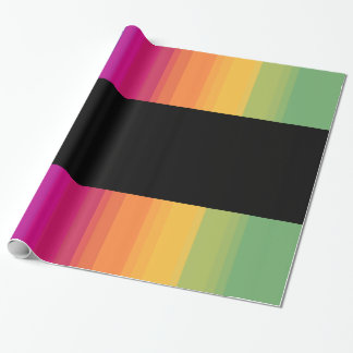 Elegant modern ombre gradient colorful rainbow wrapping paper