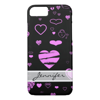 Elegant Modern Orchid Heart iPhone 8/7 Case