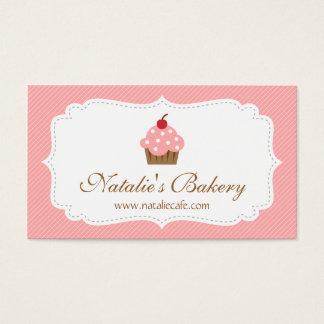 Elegant, Modern, Pink Cupcake, Bakery