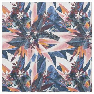 Elegant modern pointy leaf art painting fabric