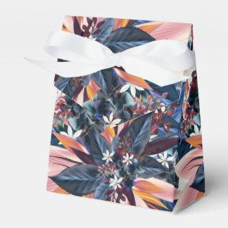 Elegant modern pointy leaf art painting favour box