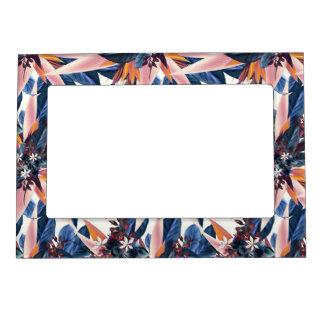 Elegant modern pointy leaf art painting magnetic picture frame
