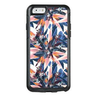 Elegant modern pointy leaf art painting OtterBox iPhone 6/6s case