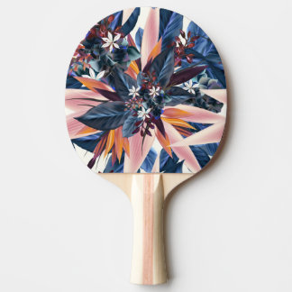 Elegant modern pointy leaf art painting ping pong paddle