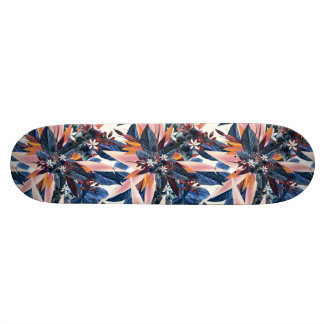 Elegant modern pointy leaf art painting skate board