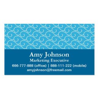 Elegant, Modern, Professional, Blue Waves Pattern Pack Of Standard Business Cards