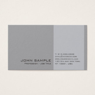 Elegant Modern Professional Grey Simple Chic Plain Business Card
