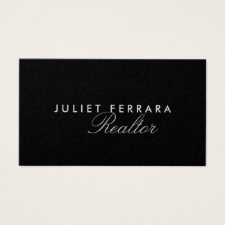 Elegant Modern Realtor - High End Business Card