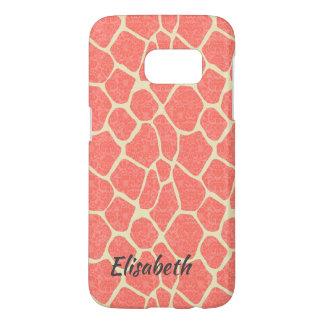 Elegant modern romantic giraffe damask