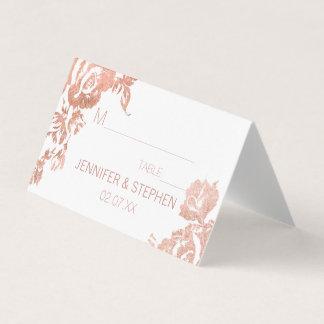 Elegant Modern Rose Gold Floral Place Cards