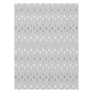 elegant modern silver Christmas tree pattern Tablecloth