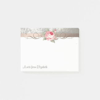 Elegant Modern Stylish,Flower-Personalized Post-it Notes