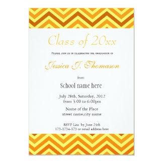 elegant, modern sunny chevron photo graduation custom announcement